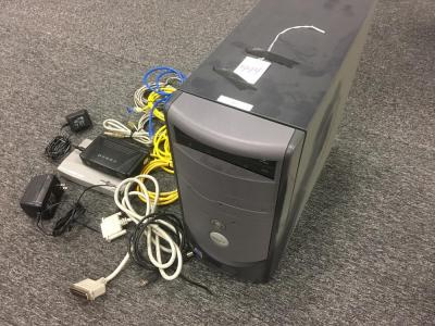DELL Dimension PC/Ethernet Hub Lot