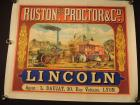 Beautiful French Lincoln Steam Engine Poster