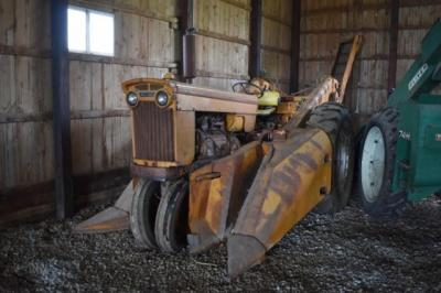 Minneapolis Moline M5 with Mounted Corn Picker