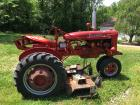 "1950 McCormick Farmall Tractor w/Woods 55""in. Mower Deck"