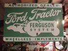 Ford Tractor Authorized Dealer Two Sided Porcelain Sign