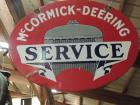 McCormick Deering Two Sided Porcelain Service Sign
