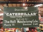 Caterpillar Holt Distributor Two Sided Porcelain Sign