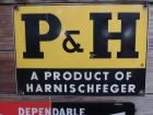 P & H Porcelain Sign