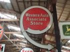 Western Auto Associate Store Porcelain Sign