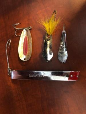 Sout Bend Super Duper 524 and 3 other Spoon Style Lures
