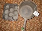 Wagner Cast Iron Pot and Muffin pan