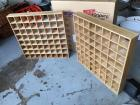 (2) Wooden Storage/Cubicles