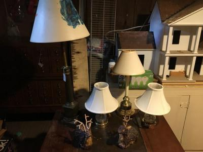 (4) Lamps And Decor Deer Lot