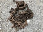 Assorted Chains And Pulleys Lot