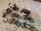 (8) Assorted Motorcycles Home Décor
