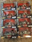 (8) Harley Davidson 1:18 scale Series 6 Maisto Collectable Bikes