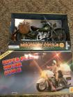 (2) Military Cycle And Police Moto Toy  Lot