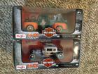 (2) 1:24 Scale H-D Custom Trucks Maisto In Boxes