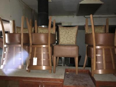 (10) Brown Cushioned Chairs