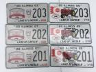 2 Sets of 201, 202, 203 License Plates
