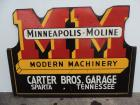 Minneapolis Moline Modern Machinery wood framed SST sign