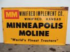 "Minneapolis Moline ""World's Finest Tractors"" self-framed SST sign"
