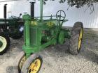 John Deere Unstyled A, nice restoration, round spokes