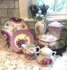 HUGE Group of Porcelain in Purple Colors