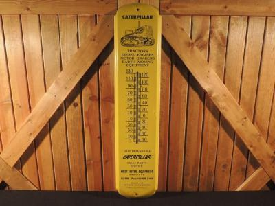Caterpillar Tin Thermometer