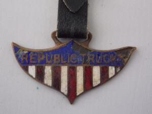 Republic Trucks enameled Fob
