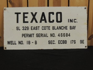 Texaco well lease SSP sign