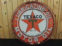 Texaco Lubricating Oil-Motor Oil DSP sign (neon has been added)