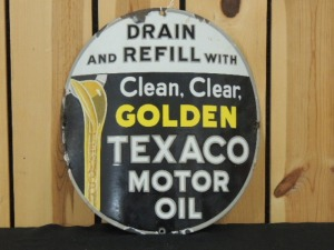 Texaco Motor Oil curved SSP sign
