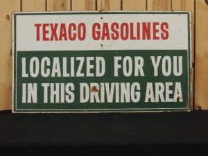 Texaco Gasolines SST sign