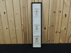 Framed set of (3)-cloth salt bags from Tulsa Plant