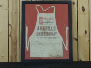 Framed Texaco Asphalt Roofing Products apron
