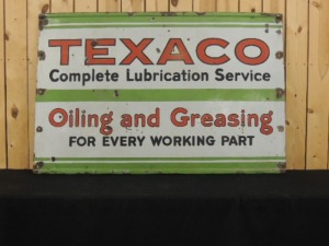 Texaco Complete Lubrication Service SSP sign
