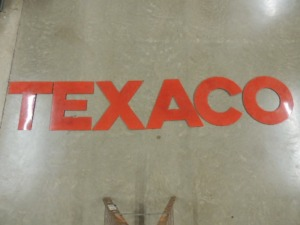 Texaco red porcelain letters