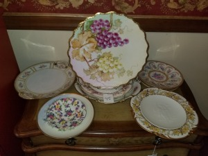 Hand Painted Serving Dishes, 1973 Hummel Plate And Large Plate Lot