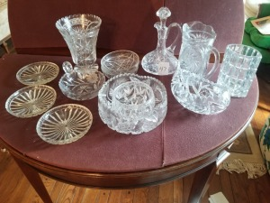 Assorted Cut Glass Lot