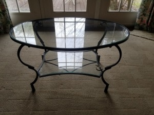 3' x 2' Glass Top Table