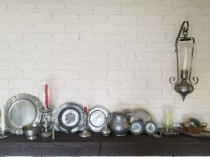 Pewter Candle Holders And Décor Lot