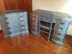 Painted Desk With Dresser