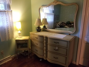 Drexel Vanity Dresser And Side Table