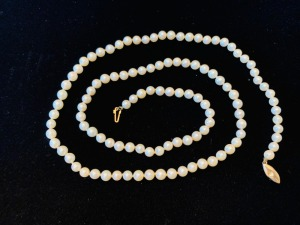 14K Cultured Pearl Necklace