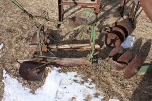 John Deere ride on listed crop cultivator