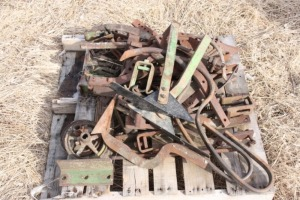 pallet of vegetable cultivator parts