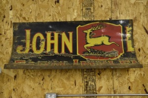 Partial John Deere Red and Black 3 Leg Deer Sign