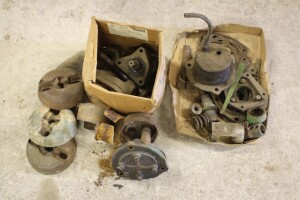 assorted parts oil pumps flywheel hubs and more