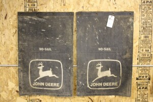 pair of John Deere mud flaps