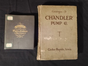 2 Early Pump Books- Gould and Chandler