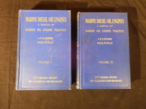 2 books on Marine Diesel Oil Engines