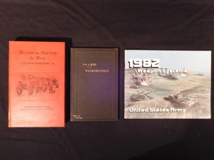 3 books on War Machines