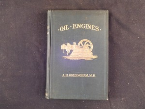2 Oil Engine Books by A H Goldingham